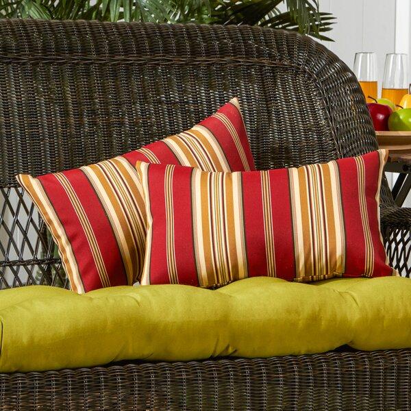 Peery Outdoor Lumbar Pillow (Set of 2) by Bayou Breeze