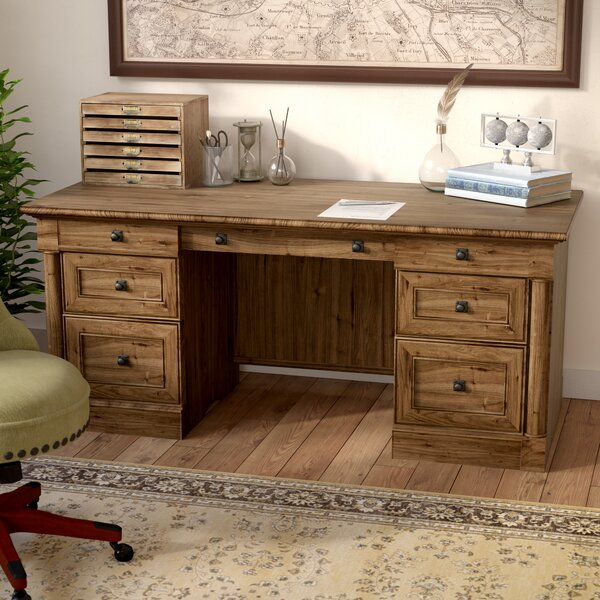 Orviston Executive Desk by Three Posts