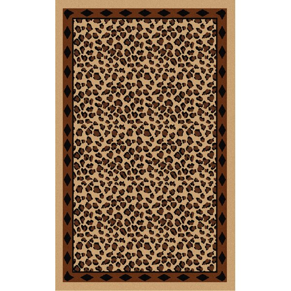 Mario Beige/Brown Animal Print Area Rug by Bloomsbury Market