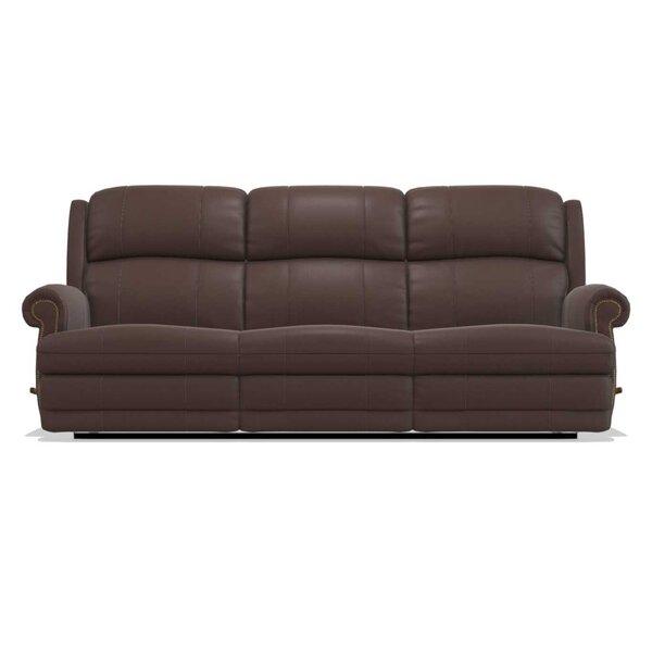 Kirkwood Reclina-Way® Full Leather Reclining Sofa by La-Z-Boy