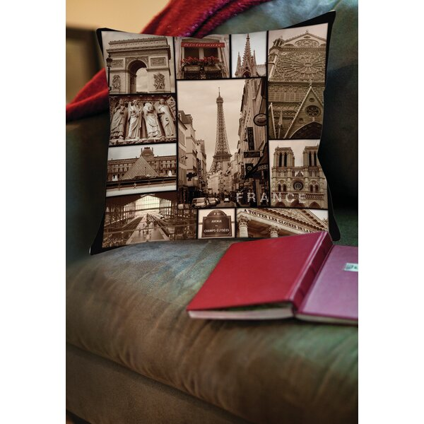 France Printed Throw Pillow by Manual Woodworkers & Weavers
