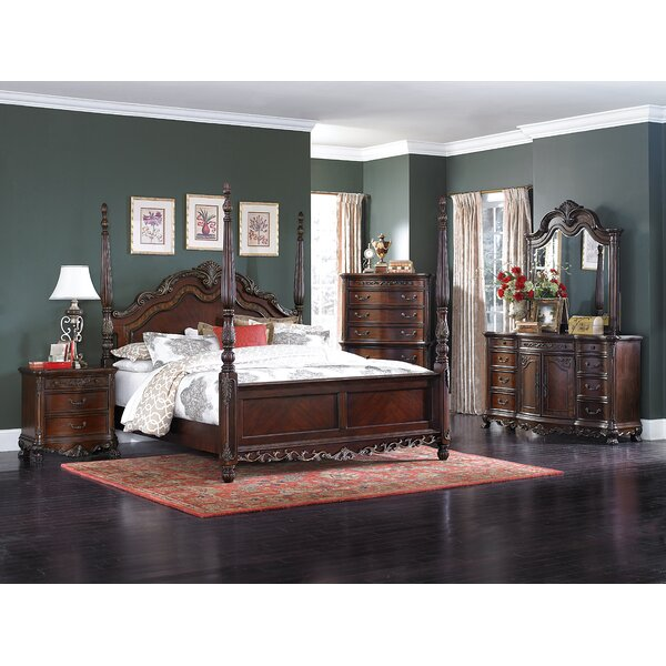 Chalus Queen Four Poster Configurable Bedroom Set by Astoria Grand