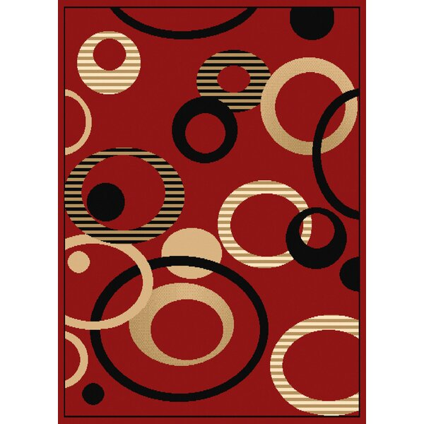 Dallas Hip Hop Red/Black Area Rug by United Weavers of America