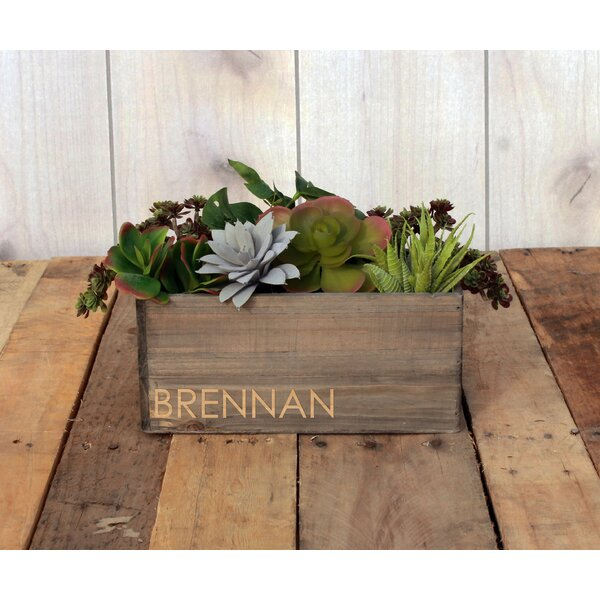 Marble Personalized Wood Planter Box by Winston Porter