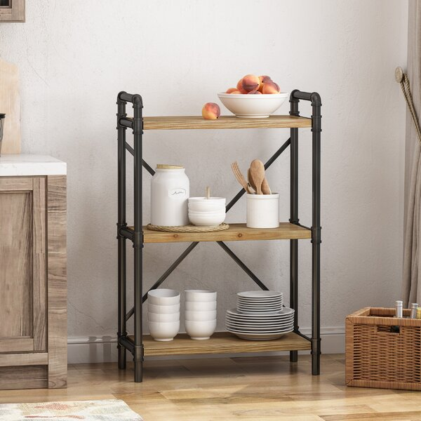 Celina 3 Shelf Etagere Bookcase by 17 Stories