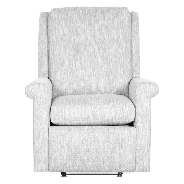 Greek Key Leather Manual Recliner By Fairfield Chair