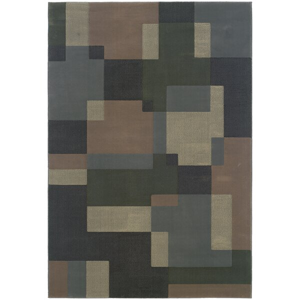 Melitta Geometric Blue/Beige Area Rug by Latitude Run