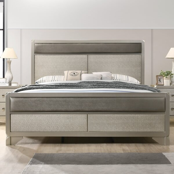Yates Upholstered Standard Bed by Rosdorf Park