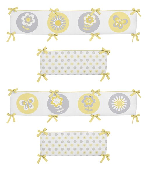 Mod Garden Crib Bumper by Sweet Jojo Designs