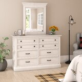 Moravia 8 Drawer Double Dresser with Mirror by Laurel Foundry Modern Farmhouse