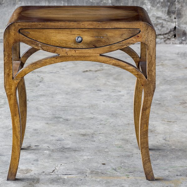 Barragan Pecan End Table with Storage by Loon Peak
