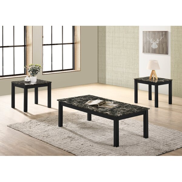 Bisou 3 Piece Coffee Table Set by Ebern Designs Ebern Designs