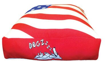Rectangle American Flag Dog Pillow by Dogzzzz
