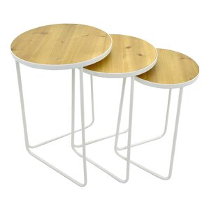 Metal 3 Piece Nesting Tables by Three Hands ..