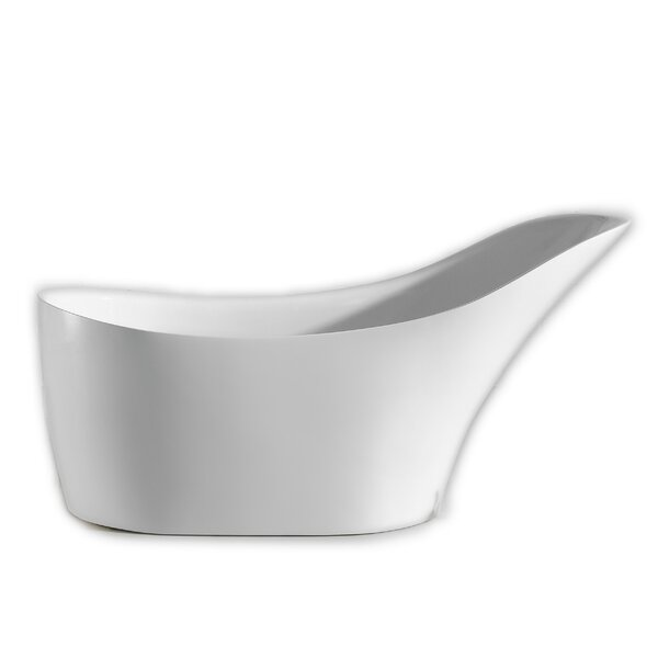 Lisa Free Standing Acrylic 30 x 67 Soaking Bathtub by Eviva
