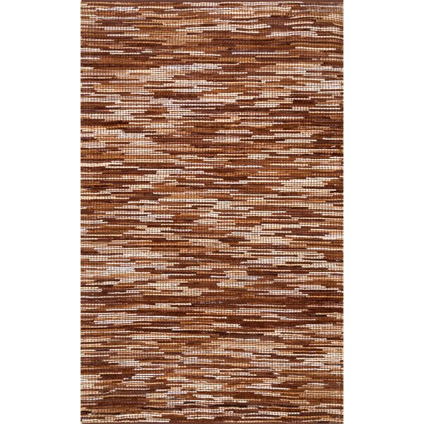 Olander Hand-Woven Light Brown Area Rug by Loon Peak