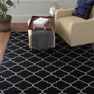 Affordable Hartley Black Area Rug ByWinston Porter