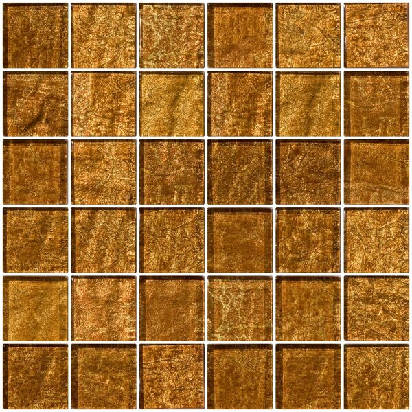 2 x 2 Glass Mosaic Tile in Golden Rust by Susan Jablon