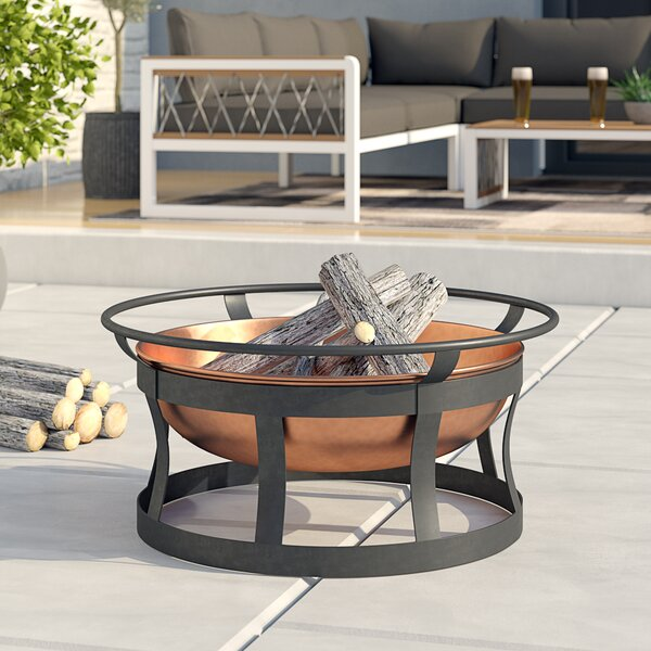 Cannet  Iron Wood Burning Fire Pit by Trent Austin Design