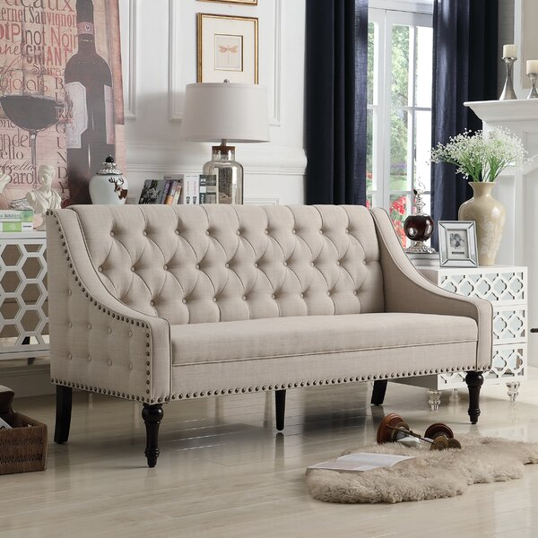 Jamila Tufted Sofa by Three Posts