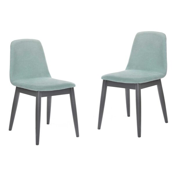 Totton Modern Blue Upholstered Dining Chair (Set of 2) by Wrought Studio Wrought Studio