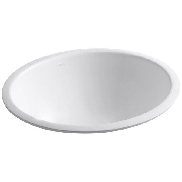 Caxton Ceramic Oval Undermount Bathroom Sink with Overflow by Kohler