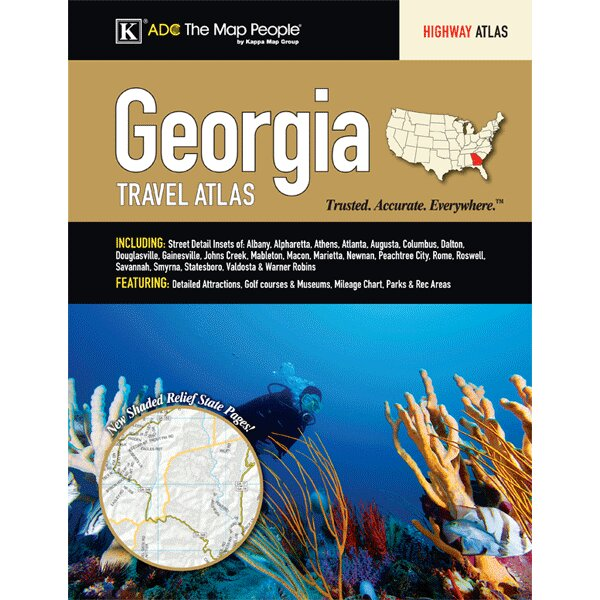 Georgia State Travel Atlas by Universal Map