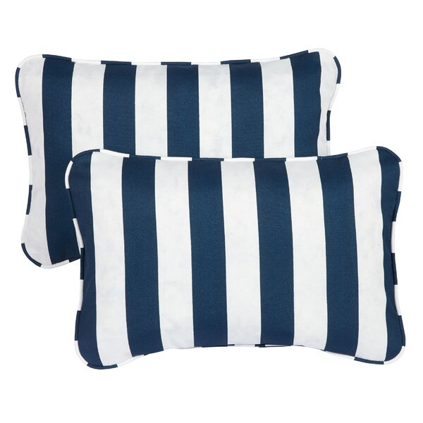 Livia Corded Indoor/Outdoor Lumbar Pillow (Set of 2) by Longshore Tides