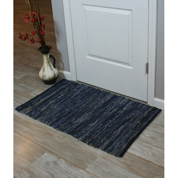 Chindi Hand-Woven Blue Denim Indoor Area Rug by Ess Ess Exports