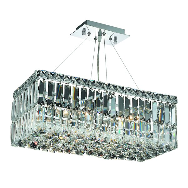 Langer 4-Light Crystal Chandelier by House of Hampton