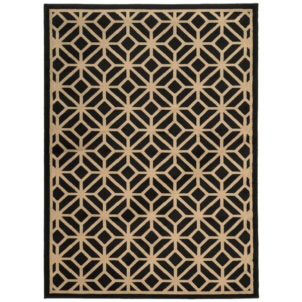 Halloran Black/Beige Area Rug by Wrought Studio