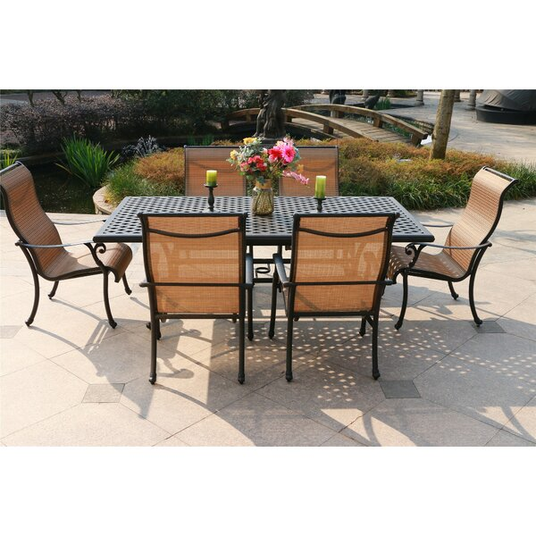 Balentine Aluminum 7 Piece Dining Set by Canora Grey