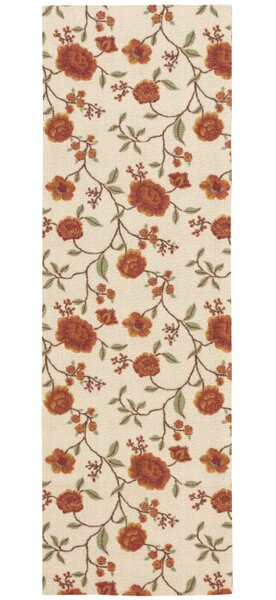Burnside Ivory Floral and Plants Area Rug by Charlton Home