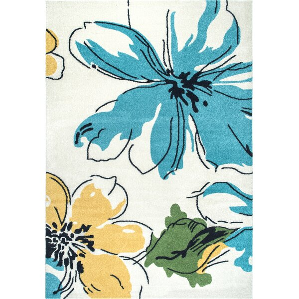 Zebrowski Yellow/Blue Area Rug by Latitude Run