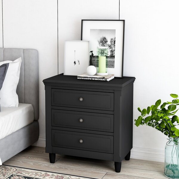 Chy 3 Drawer Nightstand by Red Barrel Studio