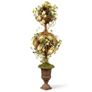 Two Ball Easter Topiary in Urn