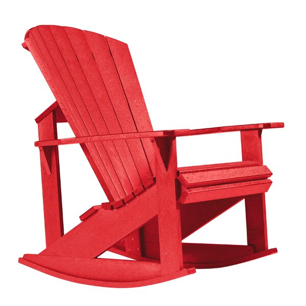 Alanna Plastic Rocking Adirondack Chair By Beachcrest Home
