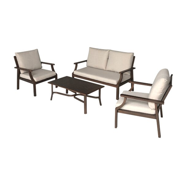 Vaidya 4 Piece Sofa Seating Group with Cushions by Latitude Run