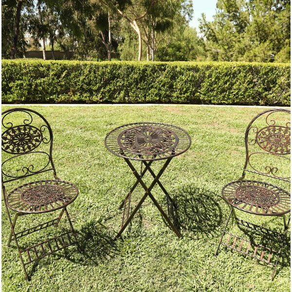 Bylar 3 Piece Bistro Set by Charlton Home