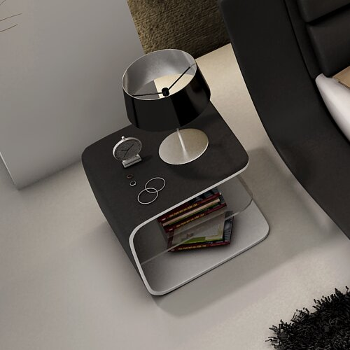 Galeton Wave Nightstand by Wade Logan