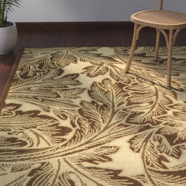 Amaryllis Natural/Brown Indoor/Outdoor Area Rug by Bay Isle Home
