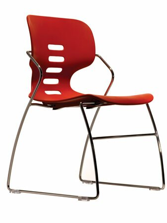 Armless Stacking Chair by Trendway