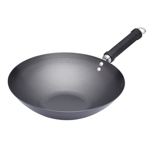 Antihaft-Wok Oriental aus Karbonstahl KitchenCraft Größe: 30 cm | Küche und Esszimmer > Kochen und Backen | KitchenCraft