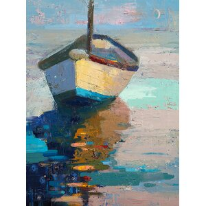 Lap, Lap, Nap, Nap Painting Print on Wrapped Canvas by Breakwater Bay
