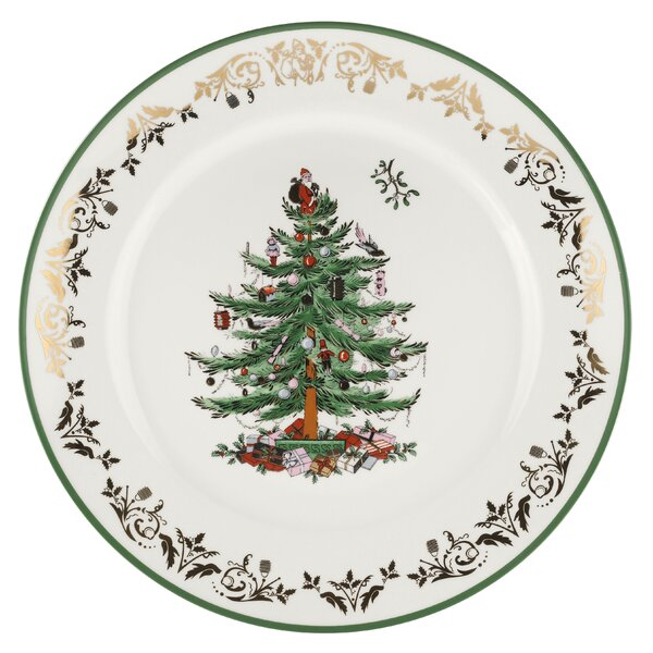 Christmas Tree Gold Platter by Spode