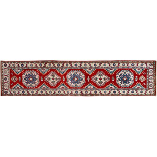 One-of-a-Kind Faunce Hand-Knotted Wool Red/Ivory Area Rug by Isabelline