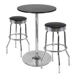 Clarksburg 3 Piece Pub Table Set by Red Barrel Studio