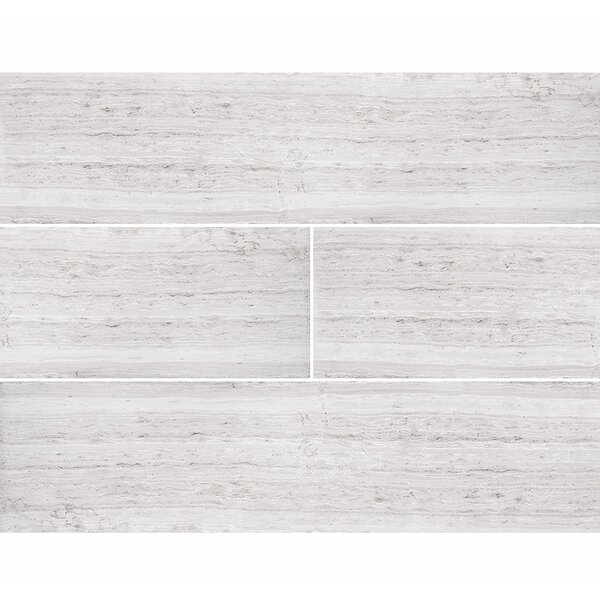 Wood Grain 6 x 24 Marble Field Tile in Gray by Parvatile