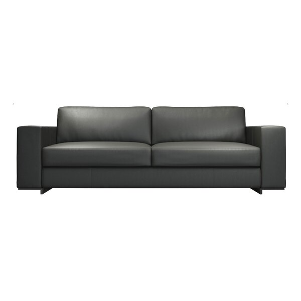 Renwick Leather Sofa by Modloft Black