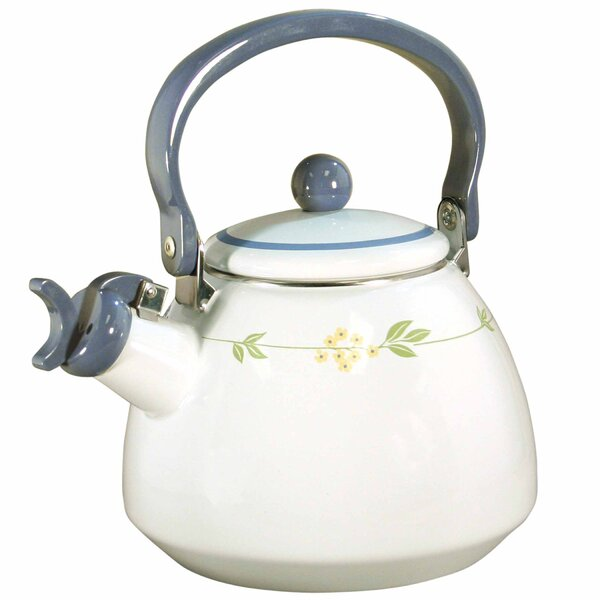 Livingware Secret Garden 2.2-qt. Whistling Tea Kettle by Corelle